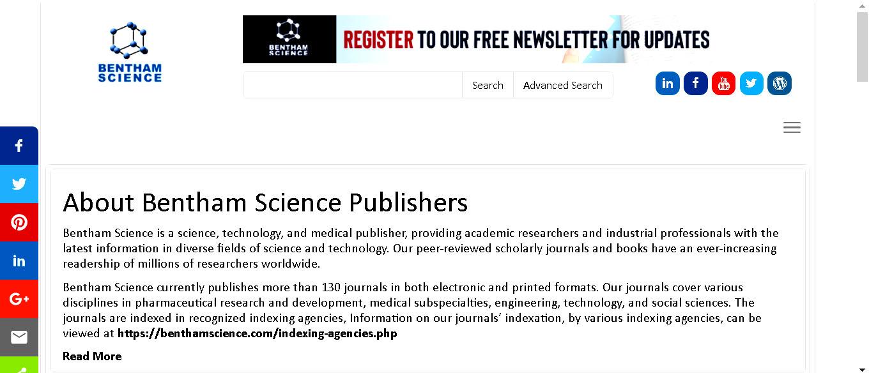 Electronic database Bentham Science Publishers